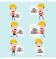 cartoon engineer charactor for home build vector image vector image