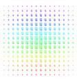certificate icon halftone spectrum grid vector image vector image