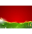 christmas background two color vector image vector image