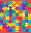 colorful background puzzle banner puzzle vector image vector image