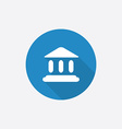 court law Flat Blue Simple Icon with long shadow vector image vector image
