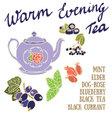 Delicious autumn Warm Evening tea recipe vector image vector image