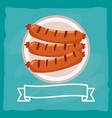 delicious tasty food cartoon vector image