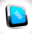 DNA 3d square button vector image vector image