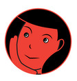 dreaming girl sticker vector image