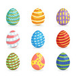easter eggs for easter holidays design isoleted in vector image