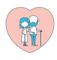 faceless caricature full body elderly couple in vector image vector image