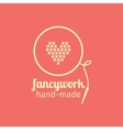 Fancywork handmade thin line icon vector image vector image