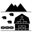 farm in tuscany icon sign o vector image