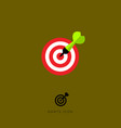 flat icon darts game vector image