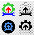 forward gear repair eps icon with contour vector image vector image