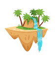 game tropic island vector image