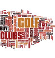 golf accessories to help you travel text vector image vector image