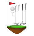 Golf elements vector image vector image