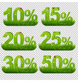 green percents collection with grass transparent vector image vector image