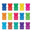 gummy bear candies vector image