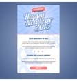 Happy New Year Holiday Greeting email template vector image