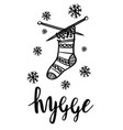 hygge is a danish living concept vector image vector image