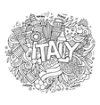 Italy hand lettering and doodles elements vector image