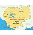 Kingdom of Cambodia - map vector image vector image