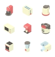 Kitchen gadgets icons set cartoon style vector image