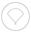 location or radar icon black color in circle vector image vector image