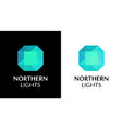 logo with northern lights shine vector image