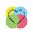 love sign heart valentine vector image
