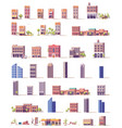 low poly buildings set vector image vector image