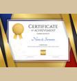 luxury certificate template with elegant golden vector image vector image