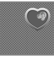 Mechanical Silver heart vector image vector image
