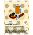 oktoberfest color isometric poster vector image vector image