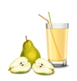Pear juice glass vector image vector image