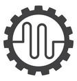 pipe service cog flat icon symbol vector image