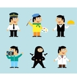 Professions icons set vector image vector image
