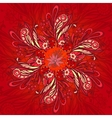Red flower seamless pattern vector image vector image