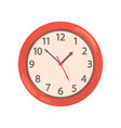 red round wall clock on a vector image