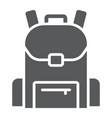school bag glyph icon school and education vector image vector image