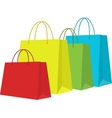 Set of Colorful Shopping Bags Isolated in White vector image