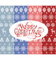 Set of simple Christmas colorfull patterns vector image