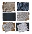 set six parchment paper background vector image