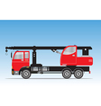 Side view of Crane truck vector image