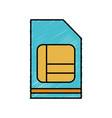 sim card icon vector image