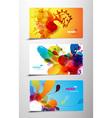 splash gift cards vector image vector image