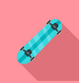 sport skateboard icon flat style vector image