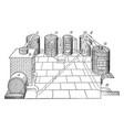 sulphuric acid contract process vintage vector image vector image