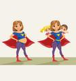 super hero super mom pregnant vector image vector image