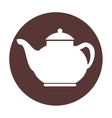 tea pot silhouette isolated icon vector image