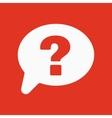 The question mark icon Help speech bubble vector image vector image