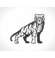Tiger logo emblem template mascot symbol vector image vector image